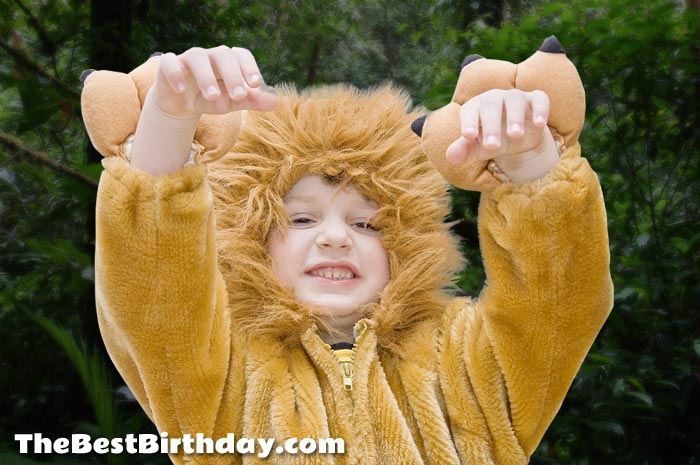 Boy Dressed As Alex The Lion From Madagascar