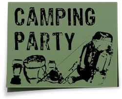 Free camping party invitation to print