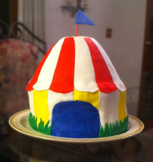 Circus Tent Cake For A Madagascar The Movie Party