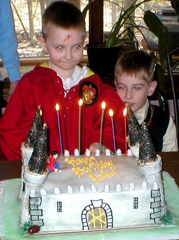 Hogwarts Castle Cake