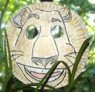 Paper plate Alex the lion mask