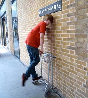 Platform 9 3/4 in King's Cross Station, London