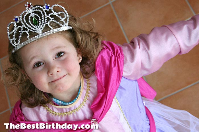 Princess at her party
