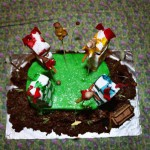 Top view of Harry Potter Quidditch Cake