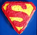 Frosted Superman S Cake